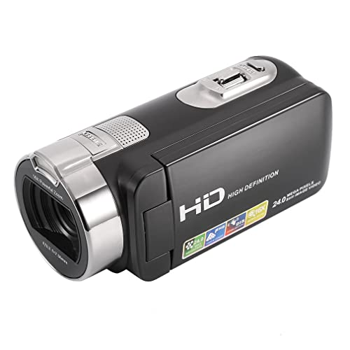 Video Camcorder, LESHP 1080P HD Digital Video Camera Lightweight Slim with HDMI, 2.7 Inch TFT Screen, 24MP 16x Zoom, 270 Degree Rotation, DV Digital Cameras