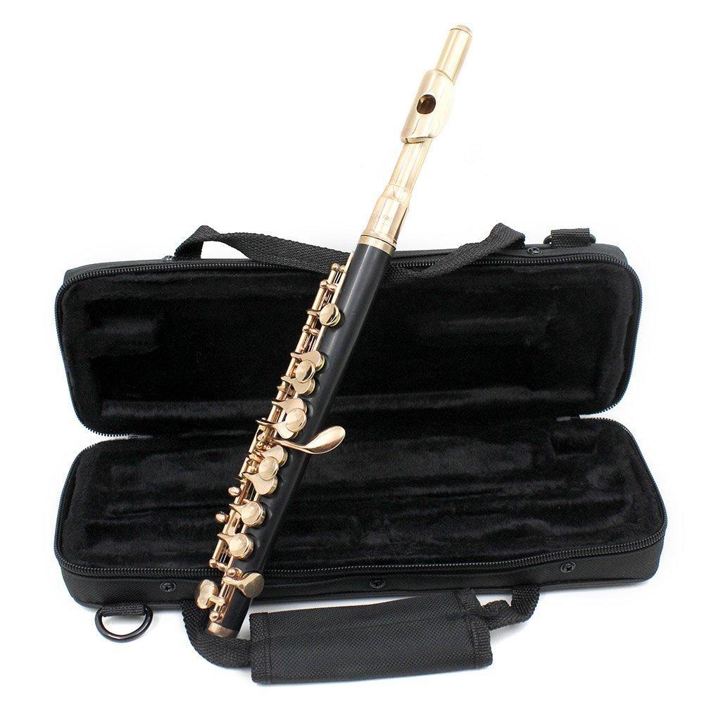 ammoon Piccolo Ottavino Half-size Flute Silver Plated C Key Tone Set