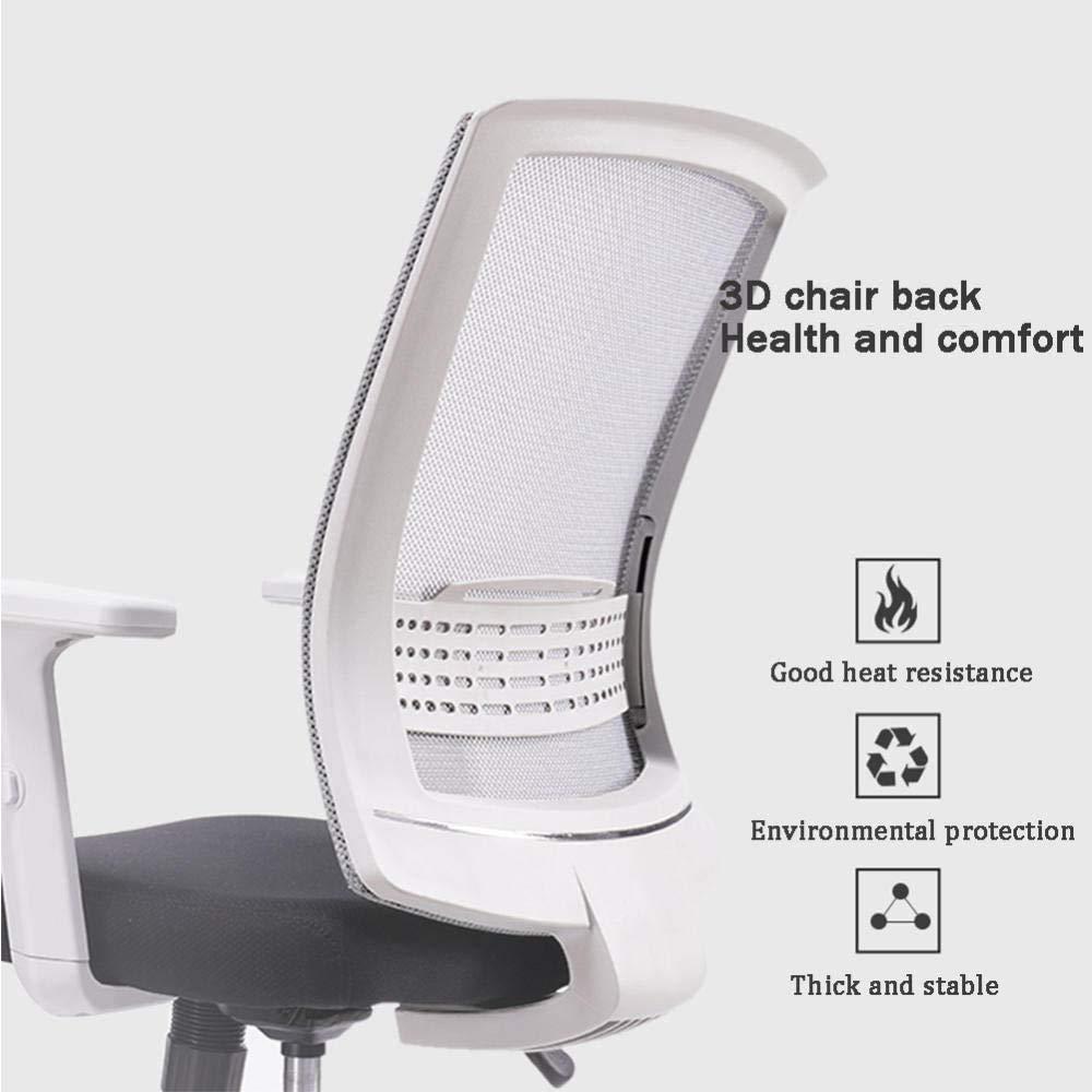 Konferensstol, kontorsstol besökare, nät, bekväma stolar, hemmakontor daglig skolstol, grå Grå