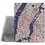 MoKo Case Fit iPad 2 3 4 - Ultra Lightweight Slim Smart Shell Stand Cover with Translucent Frosted Back Protector Fit iPad 2 The New iPad 3 (3rd Gen) iPad 4 - New York City (with Auto Wake Sleep)