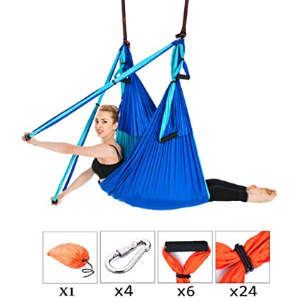 Amazon.com : Aerial Yoga Swing Set Yoga Hammock Hanger Sling ...
