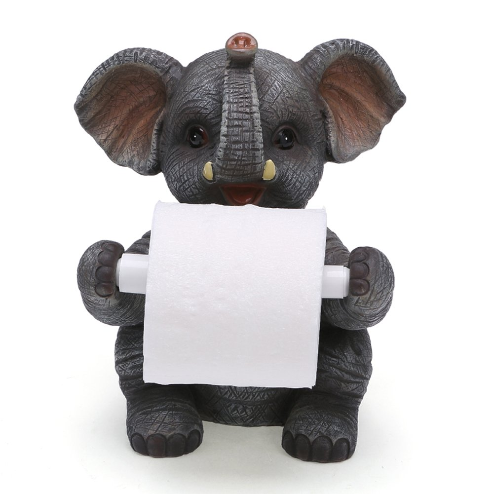 YOURNELO Creative Animal Desk Roll Paper Holder for Toilet (Elephant)