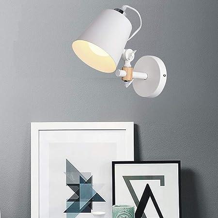 FCX-LIGHT Aplique Pared Interior LED Lámpara de Pared Moderna iluminacion led Interior para Salon Dormitorio Sala Pasillo Escalera Ajustable,White: Amazon.es: Hogar