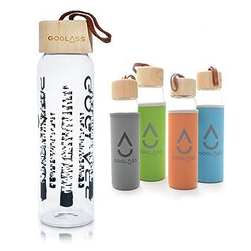 goglass Aspen cristal potable botella de agua, 20 oz, libre de BPA, a