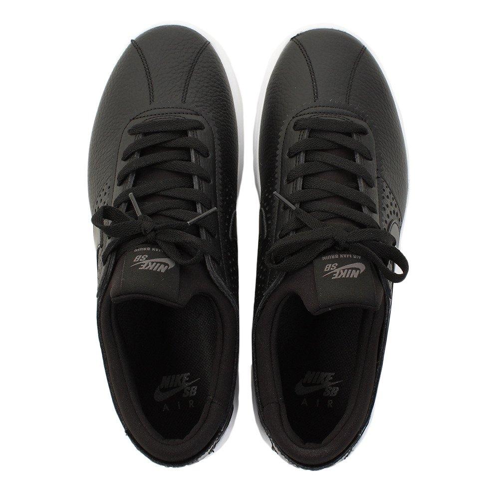 Nike Air Max Bruin Vapor Leather Sneakers Black//Black Dark Grey Mens 7