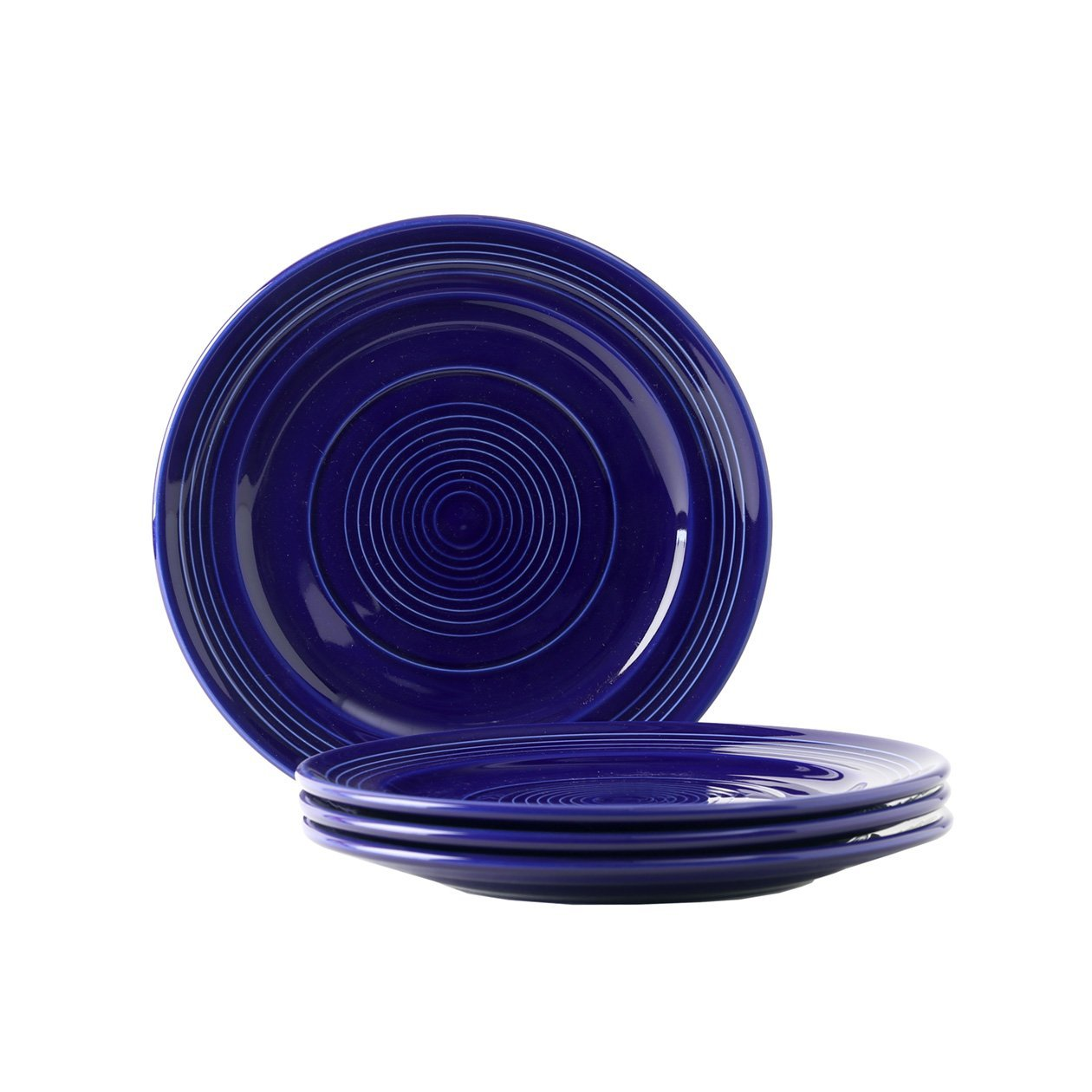 Tuxton Home Concentrix Luncheon Plate (Set of 4), 9'', Cobalt Blue; Heavy Duty; Chip Resistant; Lead and Cadmium Free; Freezer to Oven Safe up to 500F