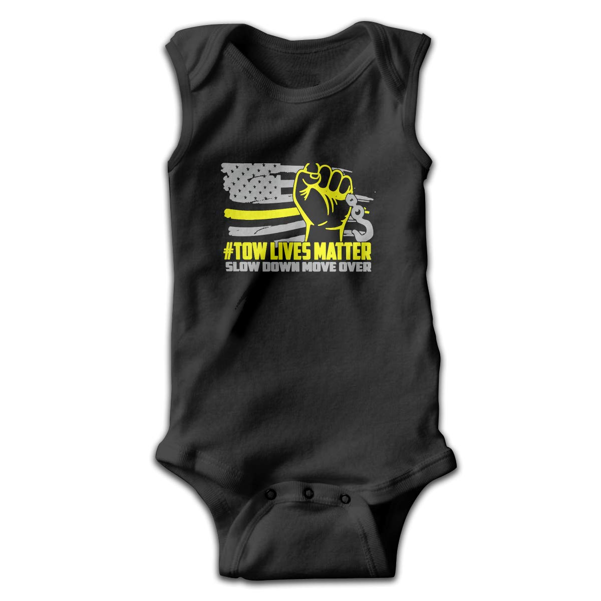 Tow Lives Matter Move Over Slow Down Sleeveless Trottie Jumpsuit Cute Onesie Summer Bodysuits