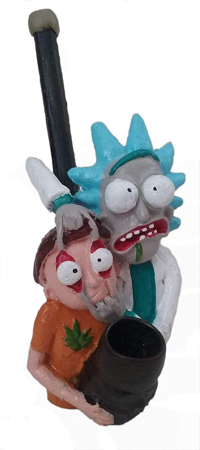 Rick with Morty Figurine Pipe
