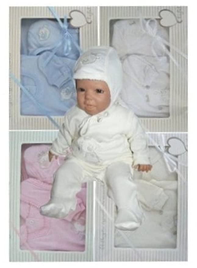 Seruna BY24 Coffret 7 pièces pour nouveau né avec body à manches longues 853ff3255ae