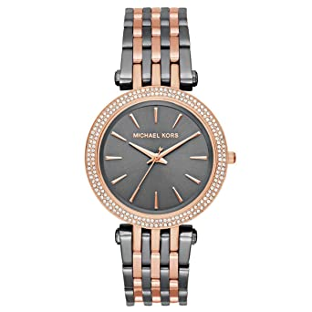 d1d376ae5303 Image Unavailable. Image not available for. Color  Michael Kors Women s  Darci Grey Rose Gold-Tone Watch MK3584