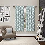 """Pairs to Go Vickery 2 Pack Window Curtains, 63"""", Spa"""