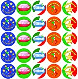 Italian Language Assorted Reward Stickers - Merit Labels for Teachers - Pack of 100