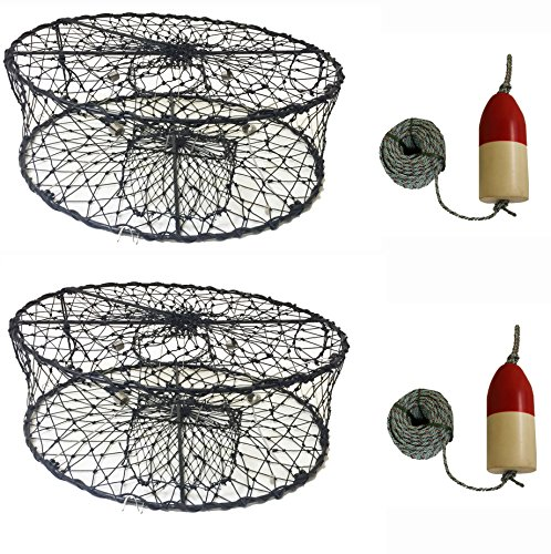 2-Pack of KUFA CT50 Sports Foldable Crab Trap with 11