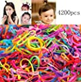 OPCC 4200 pcs Multi Candy Color Tpu Baby Girl's Kids Hair Holder Hair Tie Elastic Rubber Bands by Hceama