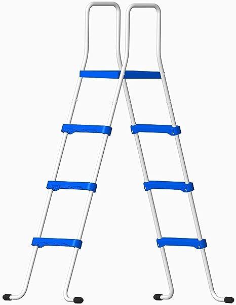Well2wellness® Escalerilla para Piscina Piscina Escalera - 3-stufig con Plataforma 180/122 cm (024290): Amazon.es: Hogar