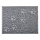 Cat Pet Litter Mat,Kitty Litter Rug,Doormat,Rectangle Shape, 16*12 Inches,4 colors available (Gray)