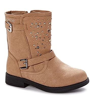 DADAWEN Women's Side Bowknot Warm Ankle Snow Boots Beige US Size 4/5 3fx2Vc1aO