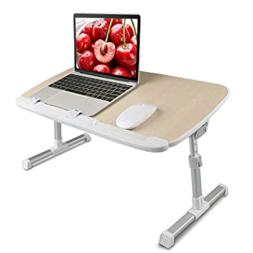 new styles 95a8e 52436 Laptop Bed Tray Table - Adjustable Laptop Bed Stand Desk, Folding Laptop  Standing Desk Table, Portable Computer Lap Desk Tablet Table Riser for Sofa  ...