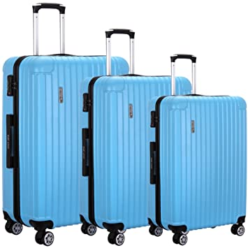 582649841ff1 Luggage set 3 Piece Lightweight Spinner Suitcase with TSA Approved Cabin  Size