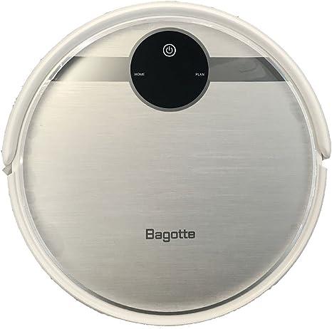 Robot de aspiración Bagotte, 3-en-1, con función limpiadora y cepillos, recarga automática, filtro HEPA 3D, navegación giroscópica. Aspira el pelo de animal y alérgenos, suelos y alfombras Negro: Amazon.es: Hogar