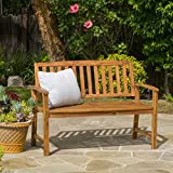 Wooden Garden Furniture Tamika Teak Finish Acacia Bench