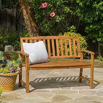 Great Deal Furniture 297246 Tamika Teak Finish Acacia Bench