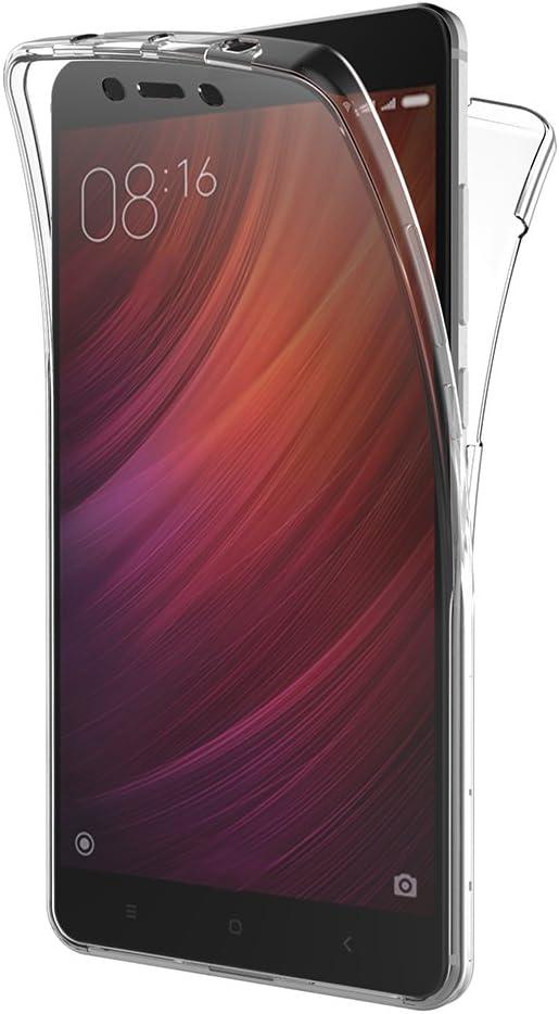 AICEK Funda Xiaomi Redmi Note 4, Transparente Silicona 360°Full Body Fundas para Xiaomi Redmi Note 4 Carcasa Silicona Funda Case (5.5