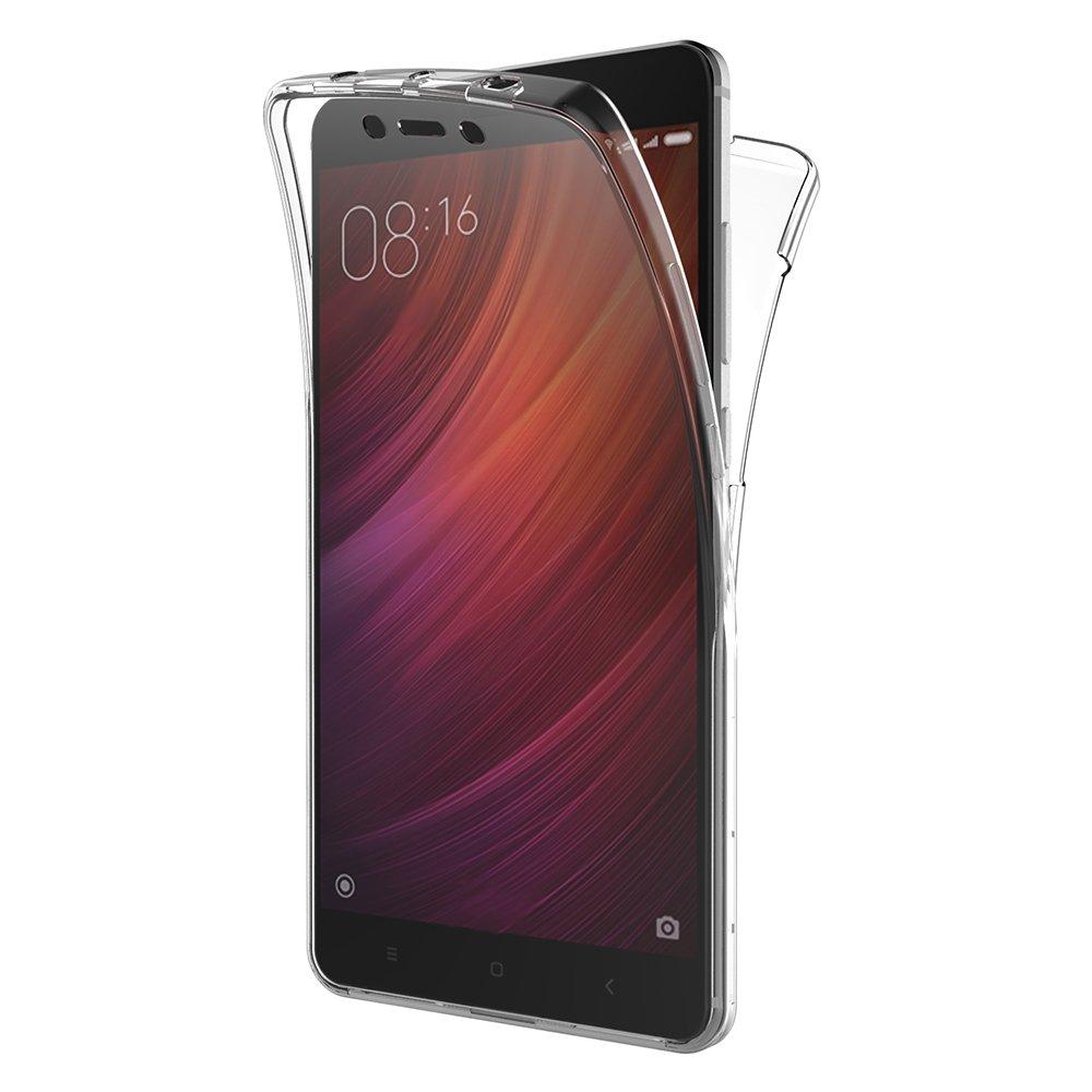 كفر حافظة Xiaomi Redmi Note 4، AICEK 360 ° غطاء كامل الجسم Redmi Note 4 سيليكون كفر حافظة TPU نحيفة شفافة لاجهزة Xiaomi Redmi Note 4 (5.5 Inch)