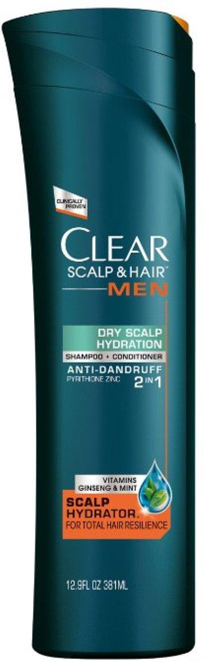 Clear Men 2-in-1 Anti-Dandruff Daily Shampoo & Conditioner, Dry Scalp Hydration 12.9 oz