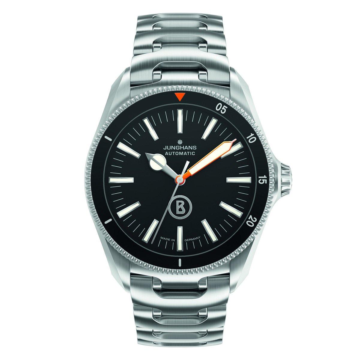 Junghans Uhren Bogner Willy Blue Automatlc 027/3211.44 - Reloj para Hombres, Correa de Acero Inoxidable Color Plateado: Amazon.es: Relojes