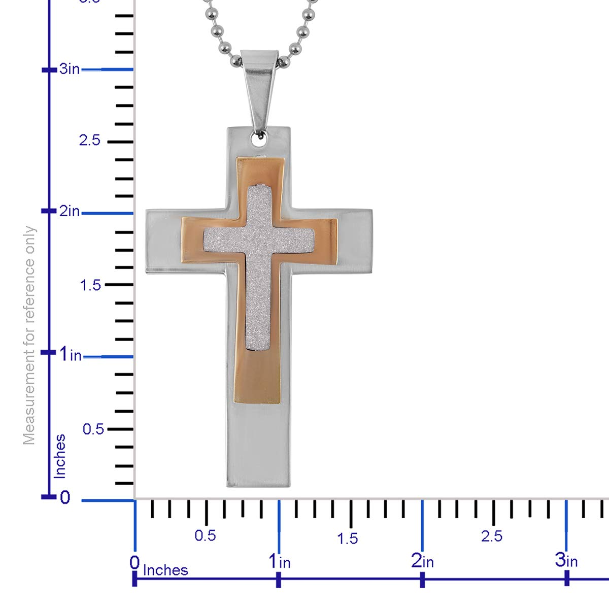 Shop LC Delivering Joy Hypoallergenic Cross Pendant Necklace 24 for Women