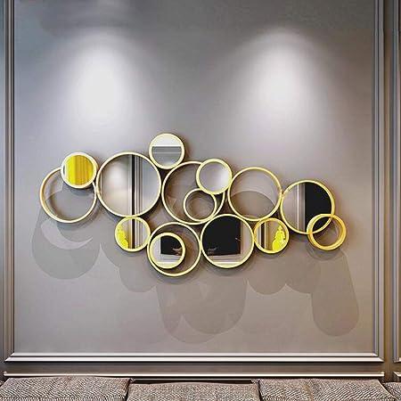 Miroirs muraux, Miroir mural en métal éclatant |Grande ...