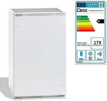 DEMA Frigorífico empotrable 122 L con congelador, a +: Amazon.es ...