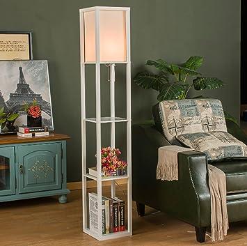 Lampadaire Simple Chinois Salon Canapé Lampe Lampadaire Chambre Lampe De  Chevet étagère étagère Fleur Personnalité Créative