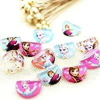 Trendy Tap Disney Barbie Doll Princess Fashionable Anna Elsa Finger Ring Set for Girls in Assorted Color (Pack of 5)