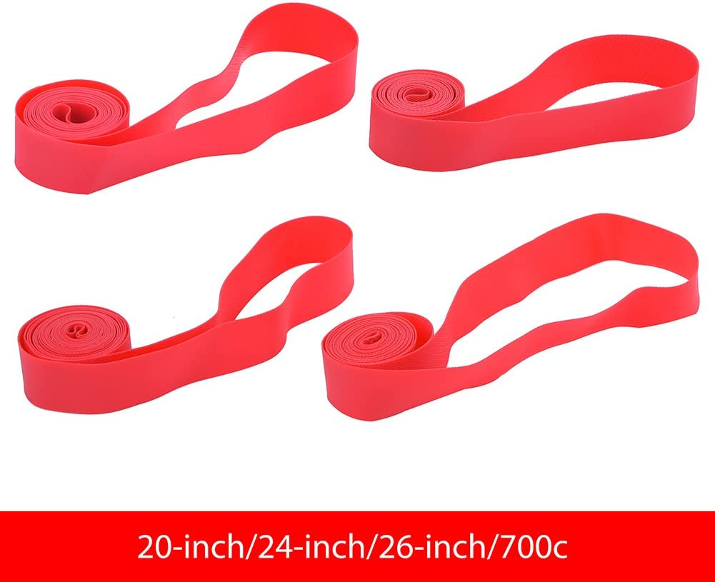 Vbestlife Mountain Bike Tire Liner,4 PCS Bicycle Inner Tube Tyre Protection Pad Bike Rim Strip Rim Tape