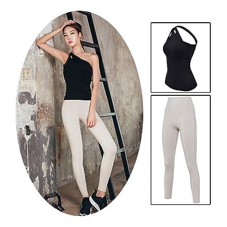 XYAIPR Set de Yoga para Mujer, Diseño de Hombro Inclinado ...