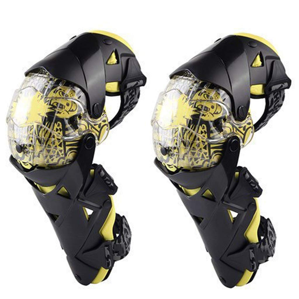 TY BEI Kneepad Kneepad - Fashion Motorcycle Knee Pads Motocross Knee PC Brace high-end Protective Gears Kneepad Protectors @@ (Color : Yellow)