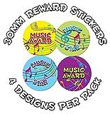 144 x 30mm Music awards - Childrens Reward Stickers - Schools,Teachers, Parents