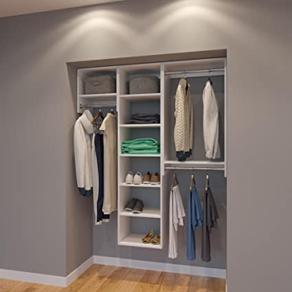 Modular Closets 5 FT Closet Organizer System   60 Inch   Style B