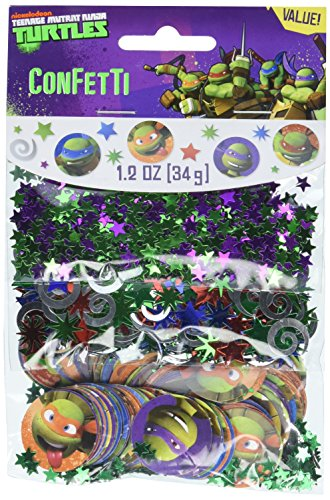 amscan Totally Tubular Teenage Mutant Ninja Turtles Party Confetti Mix Decoration, Paper, 1]()