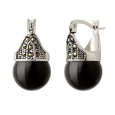 harley hematite swarovski earrings jet