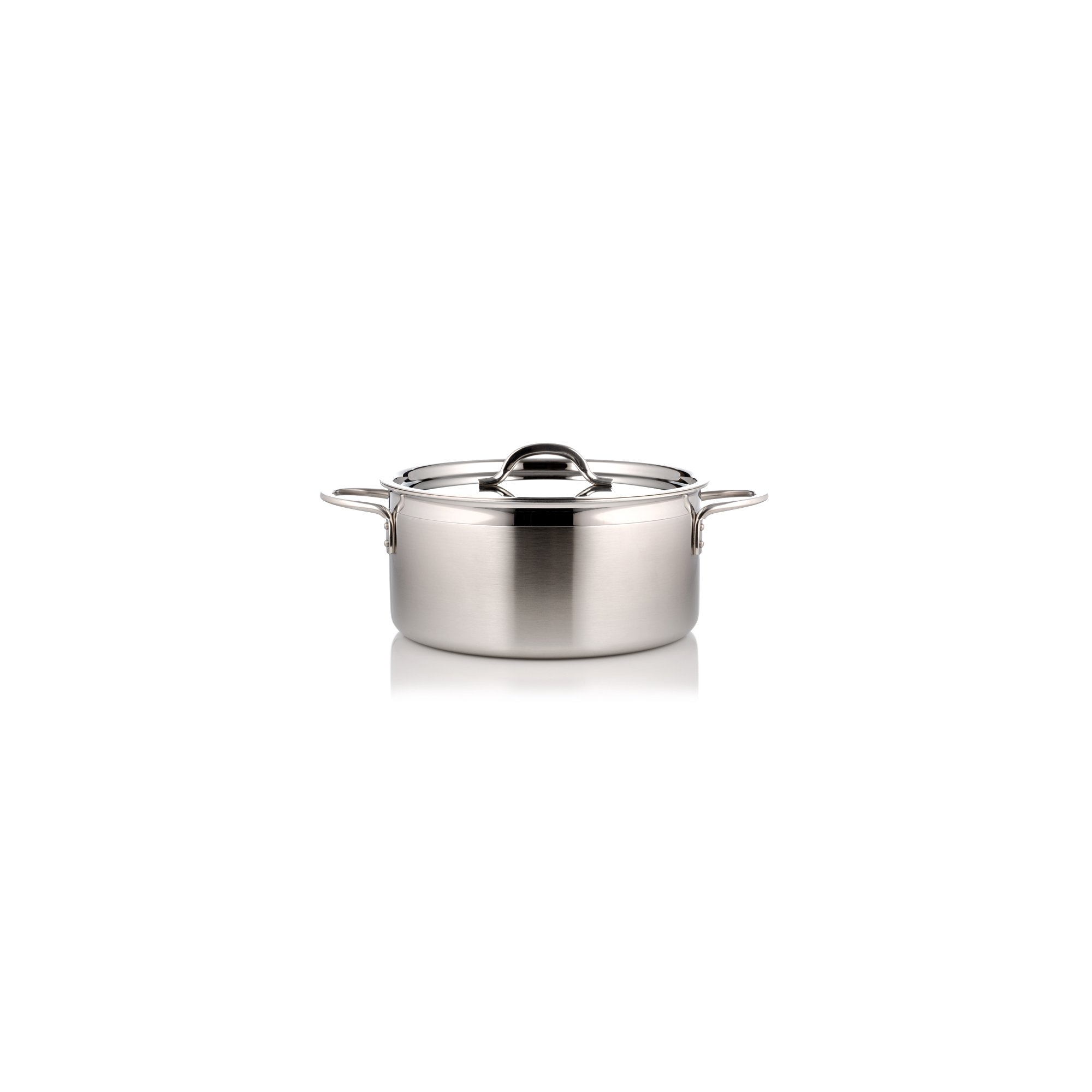 Bon Chef 60299-2ToneSS Country French Two Tone, 1.7 quart Pot with Cover, Stainless Steel