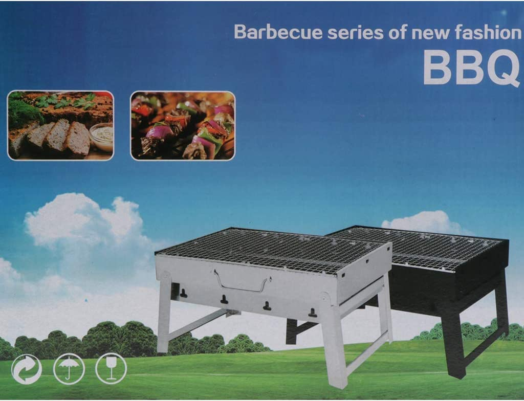PETSOLA Barbecue au Charbon de Bois sans Fum/ée BBQ Grill pour Camping Pique-Nique de Jardin et Balcon
