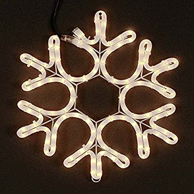 Novelty Lights Christmas Snowflake Incandescent Rope Light Sculpture, Frosted White