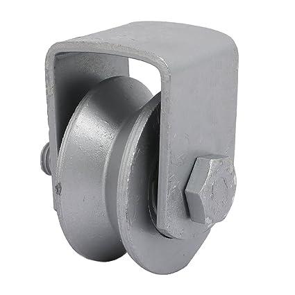 sourcingmap Rueda de surco ranura carrilera corredera de 50mm de diámetro 304 acero inoxidable Riel de