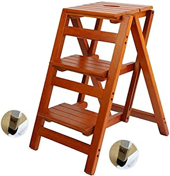 Taburete Plegable Taburete For Escalones, Estante De Madera Maciza Escalera For El Hogar Escalera Plegable, Estantería Escalera De Madera Escalera De Escalada Interior Multifuncional For Interiores, 4: Amazon.es: Bricolaje y herramientas