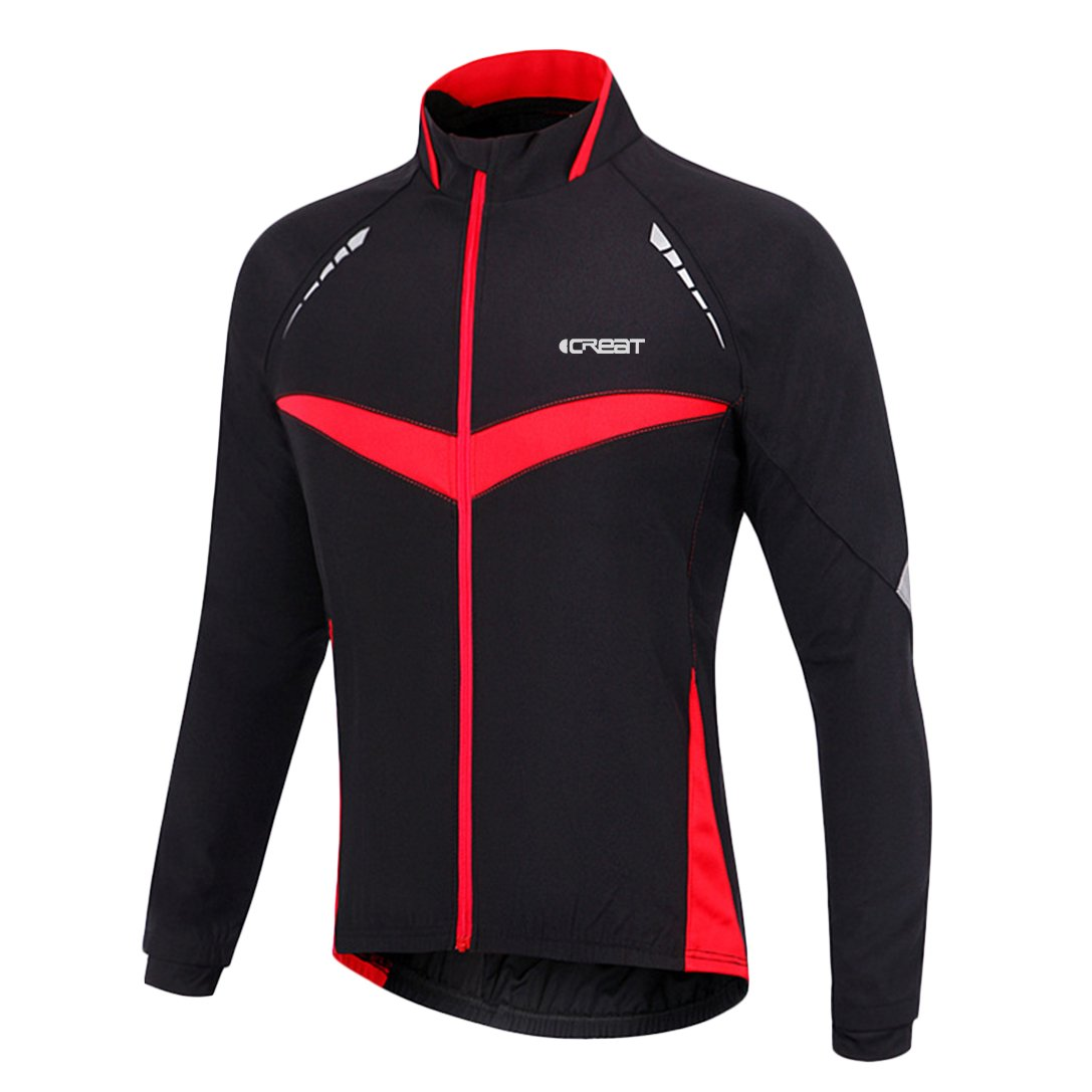 iCREAT Herren Jacket Air Jacket Winddichte Wasserdichte MTB Mountainbike Jacket Visible reflektierend, Fleece Warm Jacket für Herbst, Gr.S bis XXL iCreat Inc.