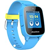 ABARDEEN B108 2G GPS GSM Tracker Smart Watch Bracelet with Camera for Kids Anti Lost SOS Waterproof IP65 Support Android IOS (Blue)