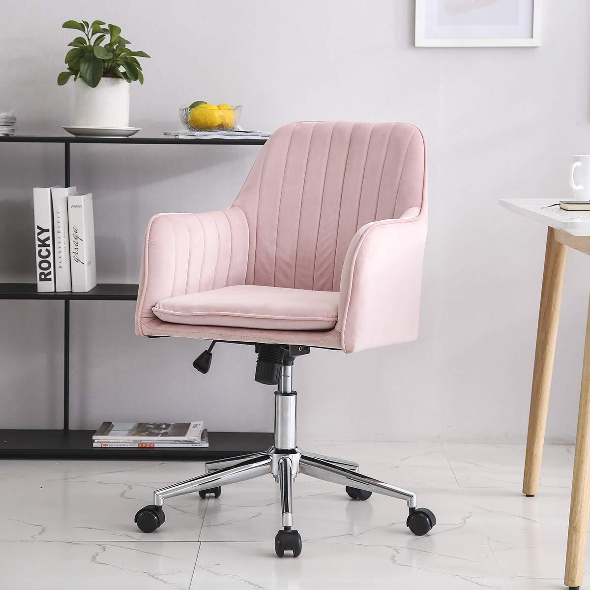 Hironpal Modern Velvet Office Chair Armc- Buy Online in El